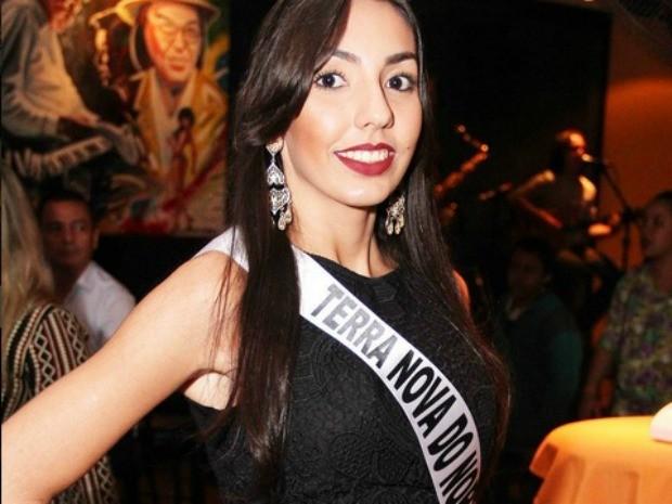 Miss Terra Nova do Norte, Fernanda Thomazelli Pereira Guerra de Oliveira, 18 anos, 1,75 m e 53 kg (Foto: Divulgação)