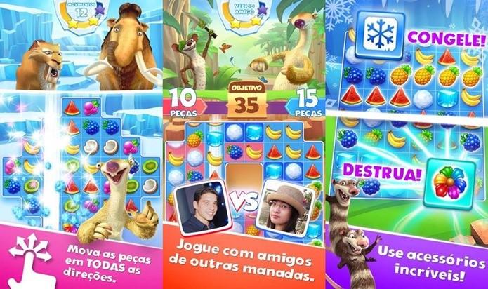Terceiro jogo de A Era do Gelo é um jogo de combinar com modo VS Online (Foto: Divulgação)