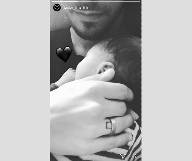 Junior apresenta Otto nas redes sociais  (Foto: Reprodução Instagram )