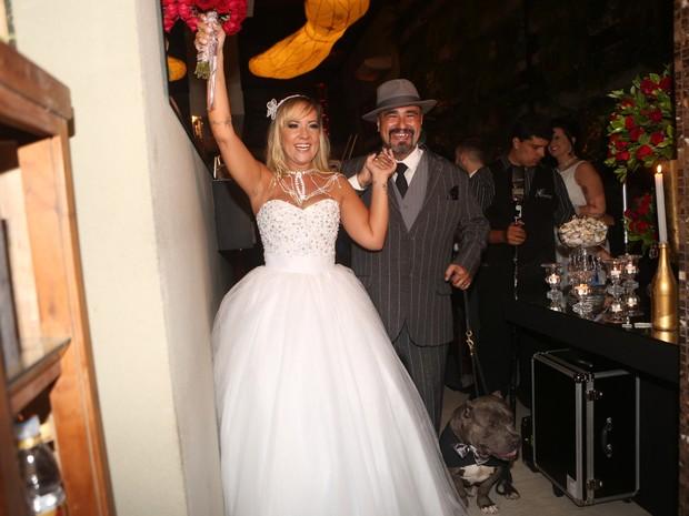 Vivi Fernandez se casa com o tatuador Fabiano dos Santos em São Paulo (Foto: Iwi Onodera/ EGO)