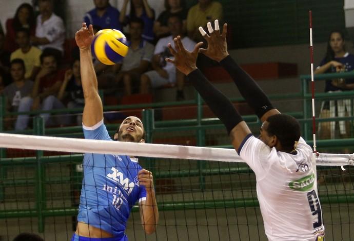 Minas e Cruzeiro vão se enfrentar decidindo o título do Estadual do Vôlei, em Contagem (Foto: Orlando Bento)
