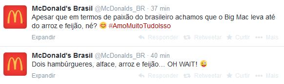 McDonald's afirma em rede social que Big Mac 'ganha' de arroz e feijão (Foto: Divulgação)