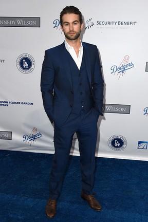 Chase Crawford em evento beneficente em Los Angeles, nos Estados Unidos (Foto: Frazer Harrison/ Getty Images/ AFP)