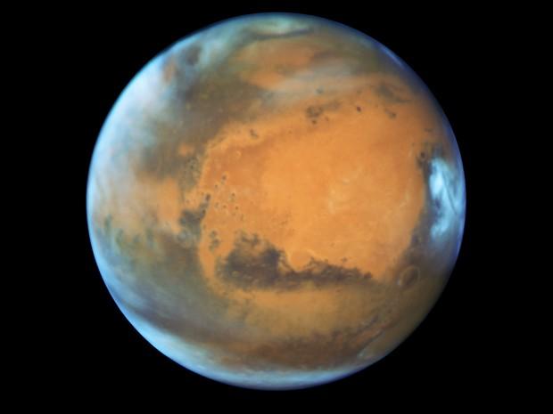 Marte fotografado pelo Hubble (Foto: Nasa)