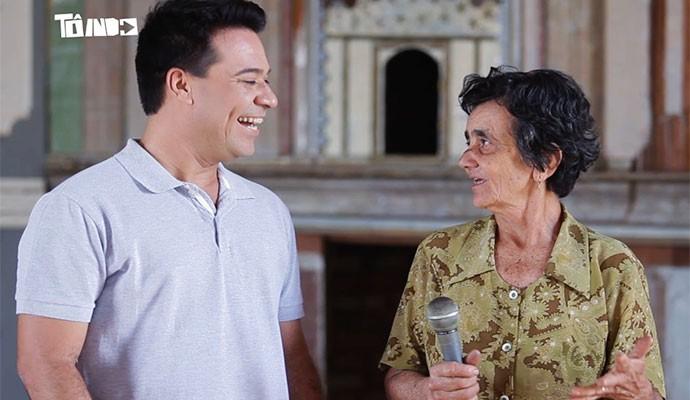 Dona Vaíca informa todas as pessoas em Areado (Foto: Divulgação | Tô Indo)