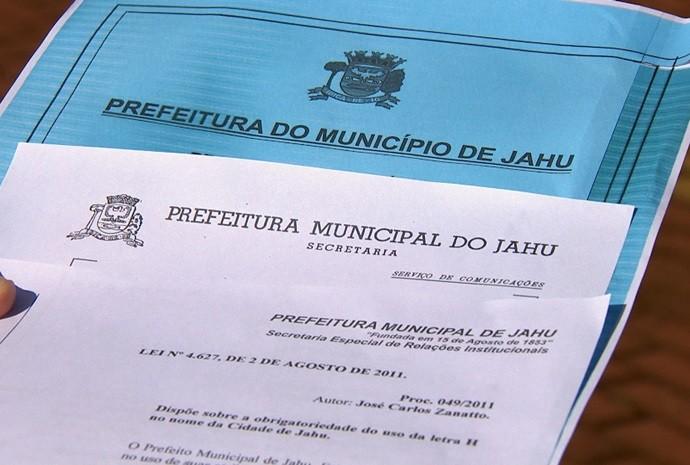 Afinal, é Jaú ou Jahu? (Foto: Reprodução / TV TEM)