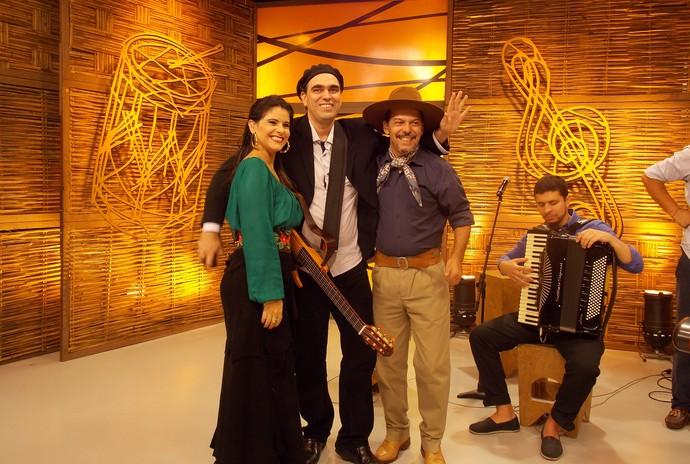 Shana Müller e Neto Fagundes Cesar Santos Galpão Crioulo (Foto: Andrielle dos Santos/RBS TV)