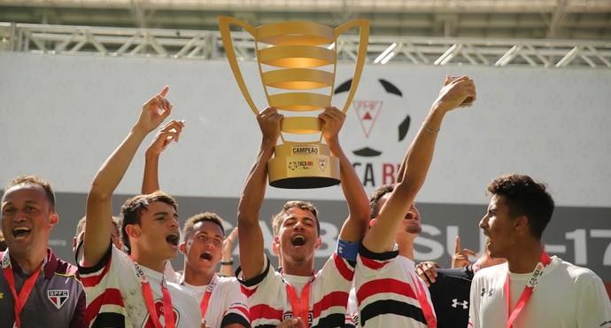 São Paulo campeão Taça  BH sub-17 (Foto: Igor Amorim / site oficial do São Paulo FC)