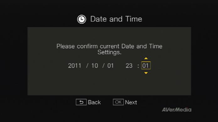 Tela de Configuração de Data e Hora (Foto: Divulgação).