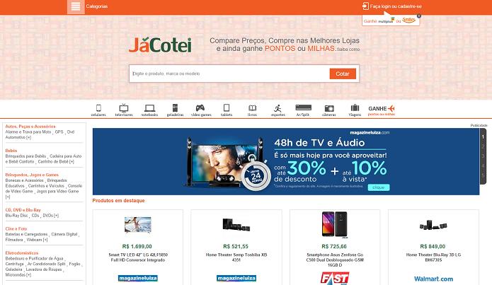 Já Cotei tem milhagem como recompensa para usuários (Foto: Reprodução/Aline Jesus)