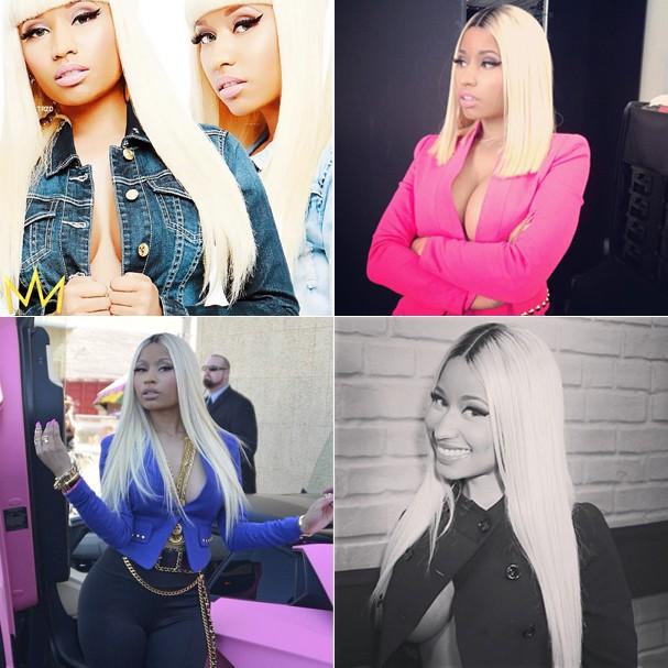 Nicki Minaj, entusiasta da tendência da jaqueta sem nada por baixo (Foto: Reprodução Instagram)