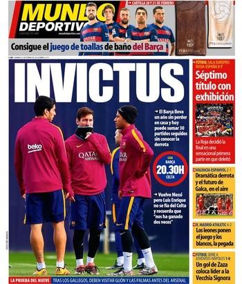 Mundo Deportivo neste domingo (Foto: Reprodução / Mundo Deportivo)