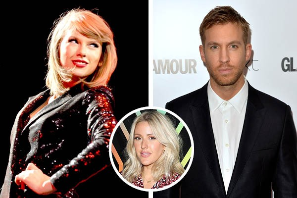 Taylor Swift, Calvin Harris e Ellie Goulding (Foto: Getty Images)