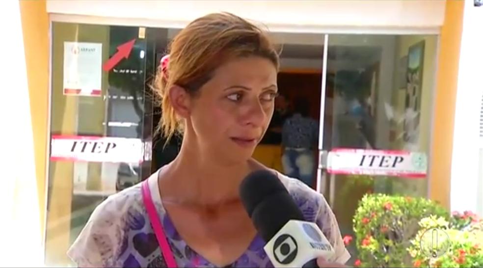 Maria José Lopes, mãe de vítima da chacina de Serra do Mel, no RN (Foto: Reprodução/Inter TV Cabugi)