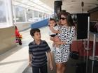 Famosas levam filhos para pré-estreia de filme no Rio