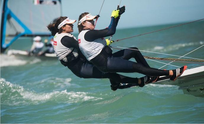 Martine Grael e Kahena Kunze Mundial dos EUA vela (Foto: Jen Edney/ Edney AP/49er Class)