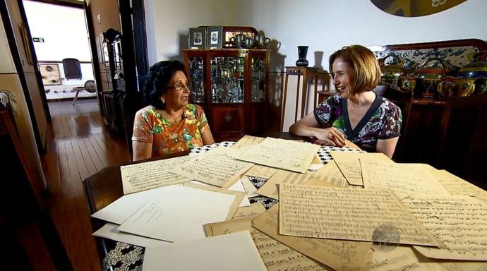 Edlaine Garcia conversa com Leila de Abreu, neta de Zequinha de Abreu (Foto: reprodução EPTV)