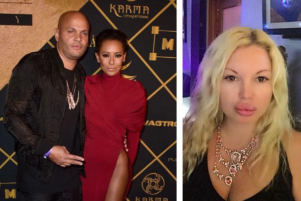 Mel B e o ex-marido, Stephen Belafonte e a playmate e ex-estrela pornô Antonia Dorian (Foto: Getty Images/Instagram)