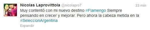 Argentino Nicolas Laprovittola basquete Flamengo confirma acerto contratação (Foto: Reprodução/Twitter)