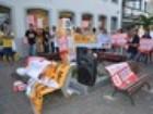 Bancários em greve seguem série de protestos em João Pessoa