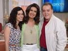 Tony Ramos e Maria Flor participaram do Encontro no último dia de 'O Rebu'. Banda Malta agitou programa