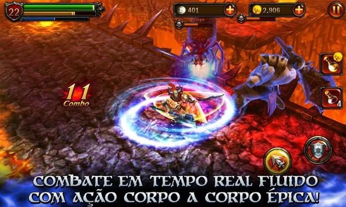 Combates intensos no estilo God of War (Foto: Divulgação)