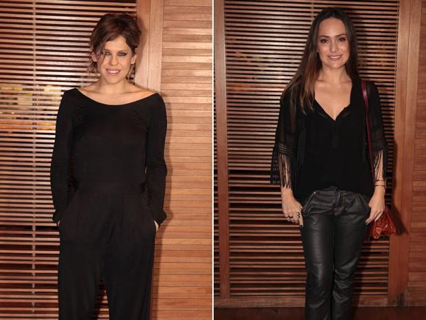 Bárbara Paz e Gabriela Duarte na comemoração pela estreia (Foto: Amor à Vida/TV Globo)