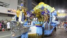 A Mocidade Azul é a tricampeã do Carnaval de Curitiba (Divulgação/ Fundação Cultural de Curitiba)