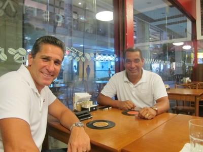 Jorginho e Zinho formam dupla de treinador e auxiliar (Foto: Hector Werlang/GloboEsporte.com)