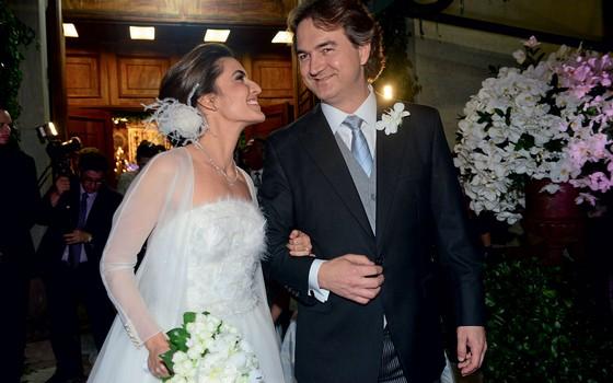 Ticiana Villas Boas, apresentadora de tv, e o empresário, Joesley Batista, da J&F Holding (Foto: Cleiby Trevisan / Editora Globo)