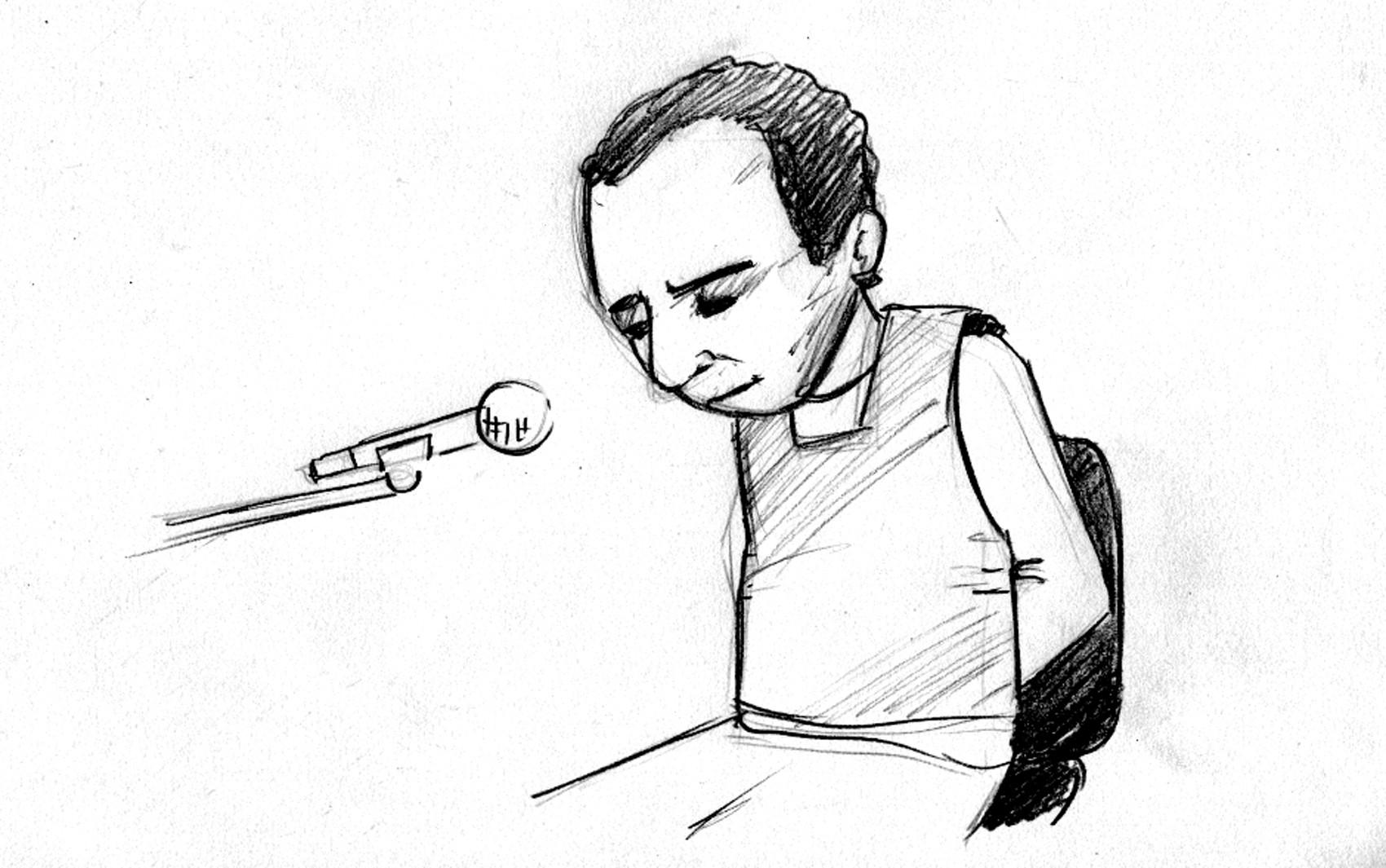 23/04/2 - O presidiário Jaílson Alves de Oliveira, que é testemunha de acusação no Caso Eliza Samudio. (Foto: Ramon Faria/TV Globo)