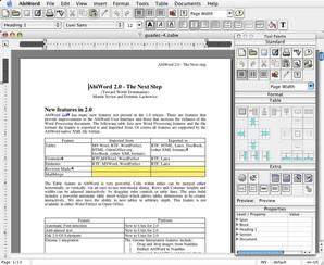 AbiWord rodando em Mac OSX