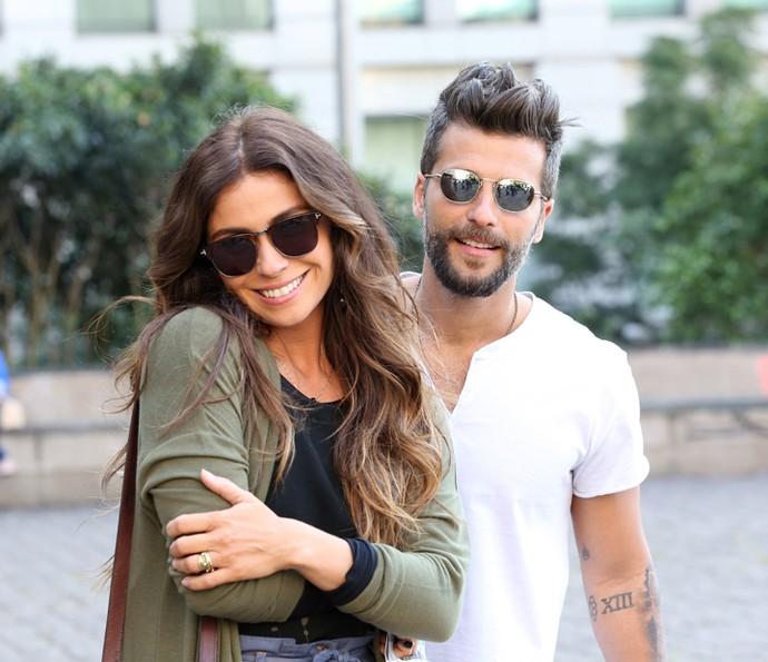 Giovanna Antonelli e Bruno Gagliasso durante gravação em São Paulo (Foto: Carol Caminha/Gshow)