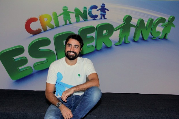 Ricardo Pereira no Criança Esperança (Foto: Alex Palarea/AgNews)
