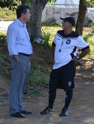 Maurício Duque e Flávio Anunziata Rio BRanco-ES (Foto: Sidney Magno Novo/GloboEsporte.com)