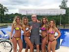 Poderoso: Roberto Justus aparece em foto cercado de mulheres
