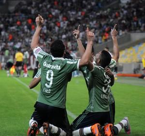 Fluminense x Santos - Lucas Gomes comemora gol (Foto: André Durão)