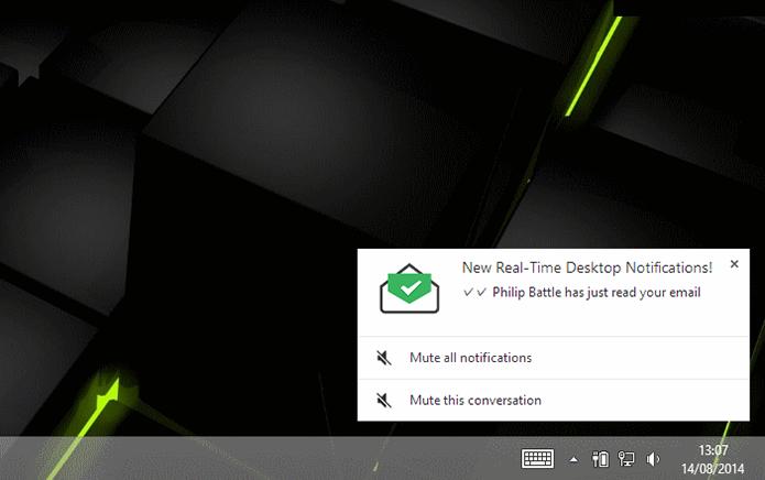MailTrack leva notificação de recebimento de e-mail para o desktop (Foto: Divulgação)