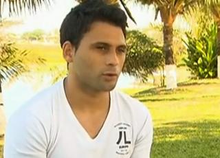 Maxi Biancucchi vai homenagear o Vitória com o nome da filha (Foto: Reprodução SporTV)