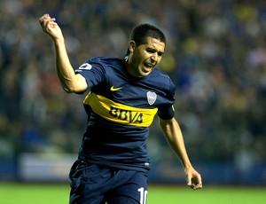 Riquelme jogo retorno ao Boca Juniors contra o União (Foto: AP)
