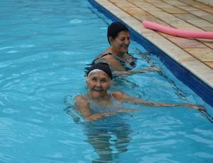 Geralda Maria de Jesus e a amiga Anita Dorneles (Foto: Franciele do Vale)