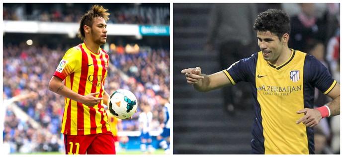 Montagem Diego Costa - Neymar (Foto: montagem)