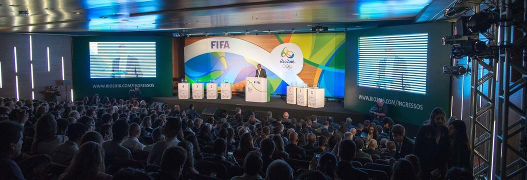 Confira como foi o sorteio dos grupos do futebol masculino e feminino (Ag. O Globo)