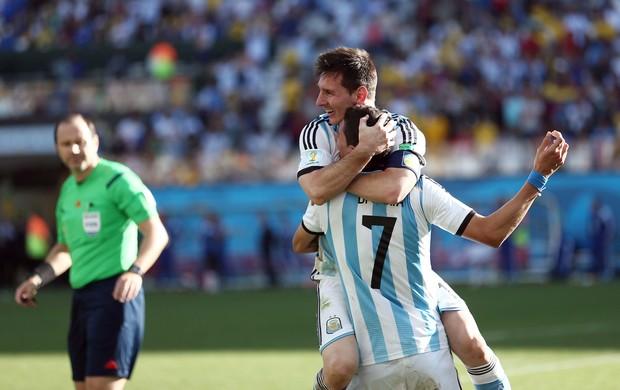 di maria gol argentina x suiça (Foto: Marcos Ribolli)