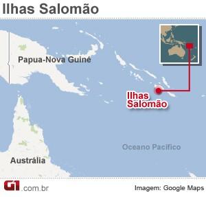 mapa terremoto ilhas salomao 25/7 (Foto: 1)