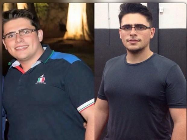 Para emagrecer, Yuri Agrelli mudou totalmente a alimentação e pratica atividade física cinco vezes por semana (Foto: Arquivo pessoal)