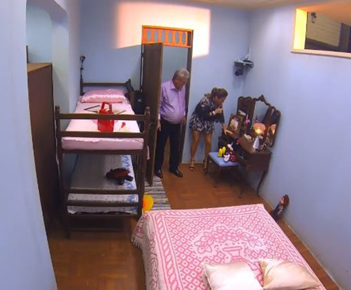 O quarto de Claudia Leitte na infância recriado em quadro no Caldeirão (Foto: TV Globo / Caldeirão do Huck)