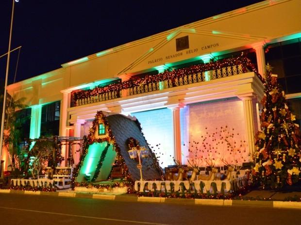 A 'Cidade de Natal' acontece de 18 a 23 de dezembro, em frente ao Palácio Senador Hélio Campos (Foto: Secom/Divulgação)