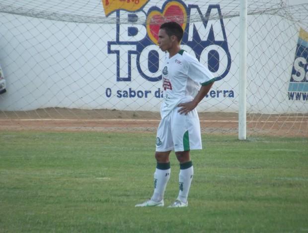 Diego Maradona, do Palmeira-RN, fez o gol da vitória sobre o Santa Cruz-RN (Foto: Tiago Menezes/GLOBOESPORTE.COM)