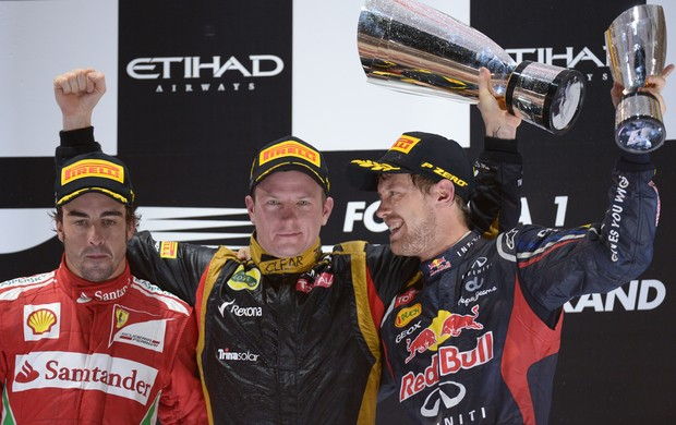 Raikkonen fernando alonso vettel abu Dhabi fórmula 1 (Foto: AFP)